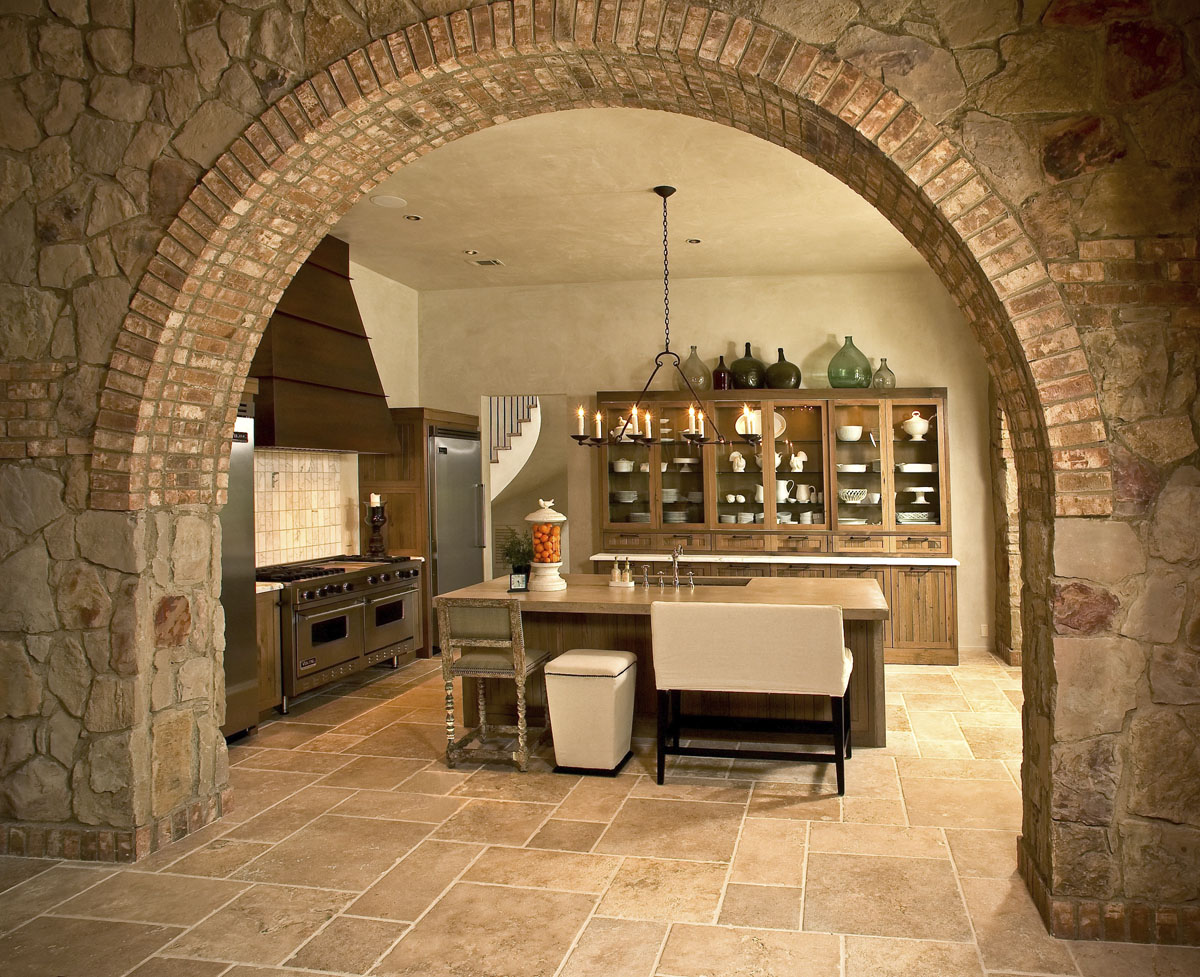 custom tuscan villa kitchen