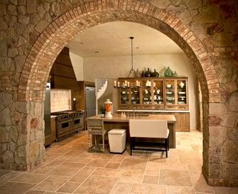 custom tuscan villa kitchen