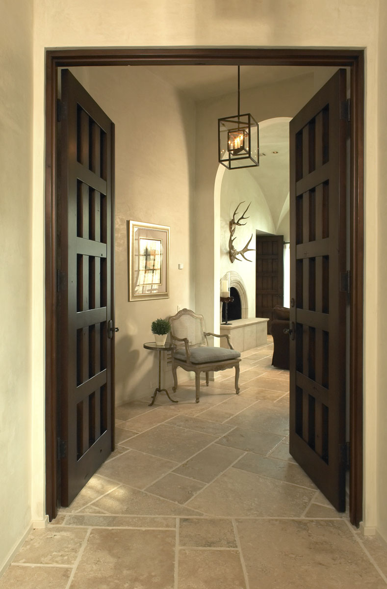 custom tuscan villa doors