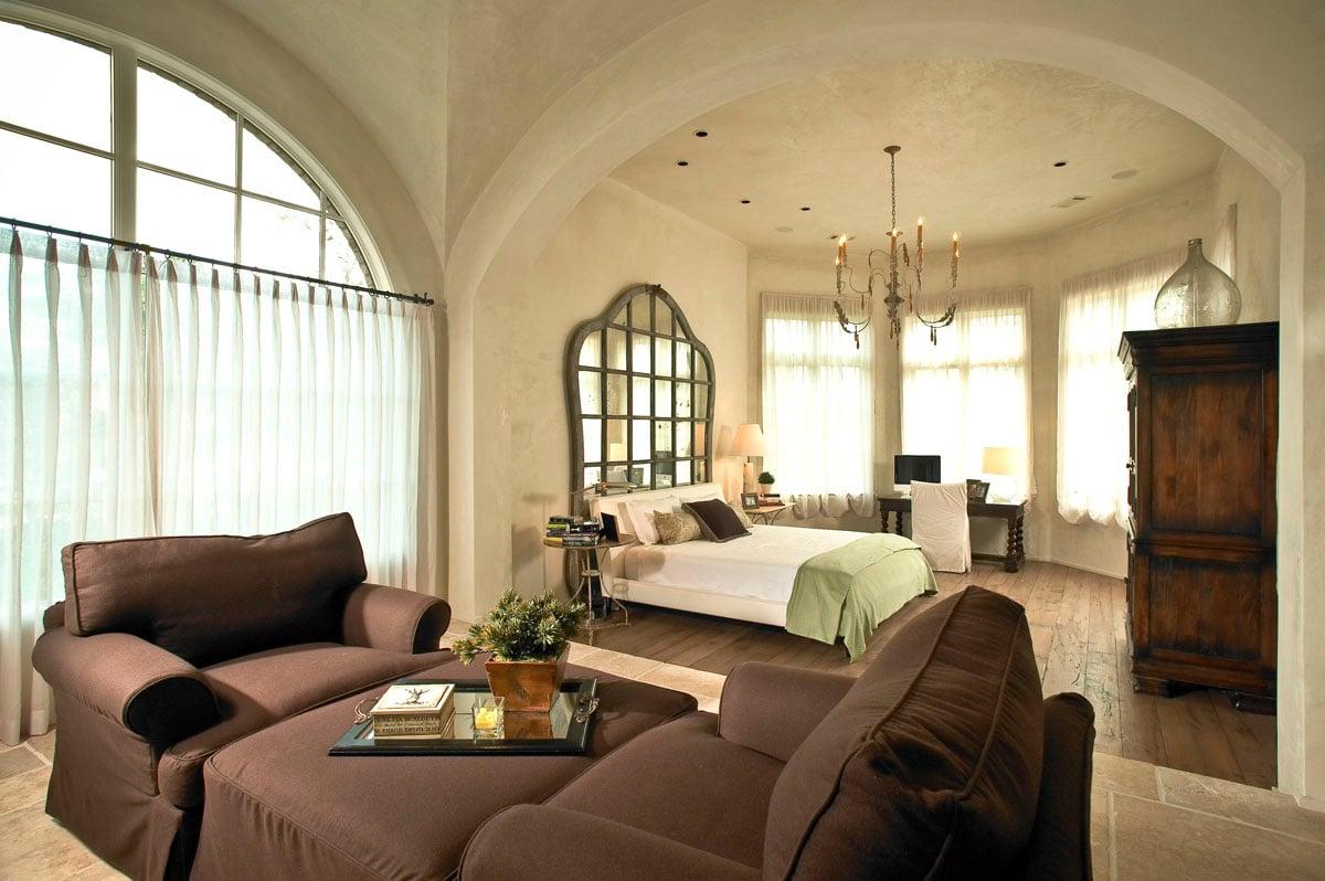 custom tuscan villa bedroom