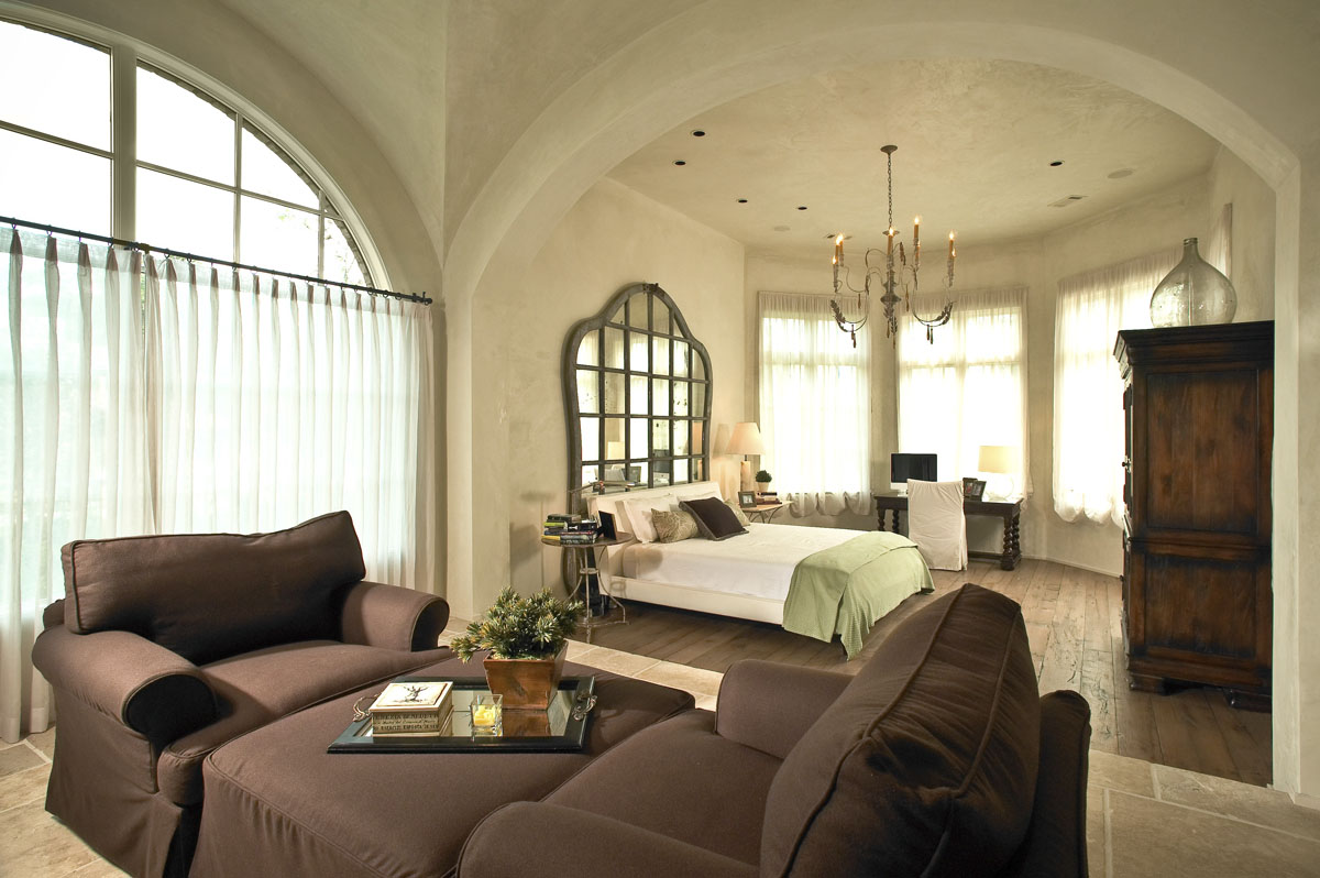 custom tuscan villa bedroom