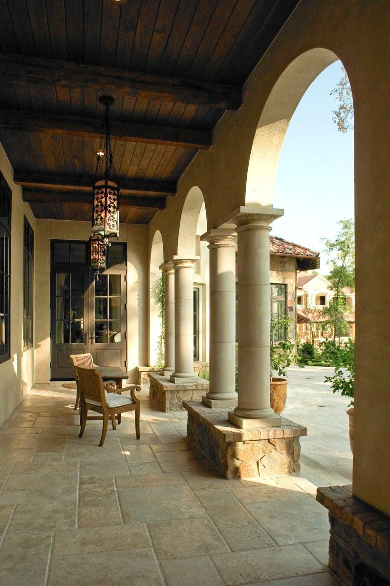 custom tuscan villa outdoor arches