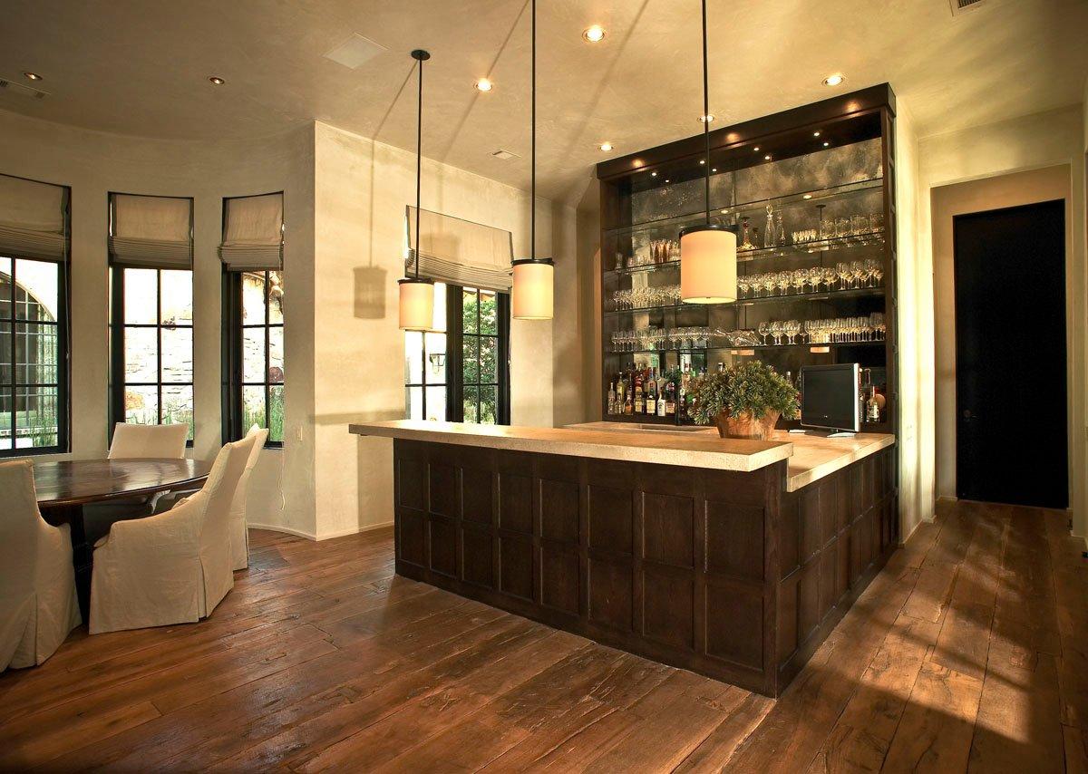custom tuscan villa bar