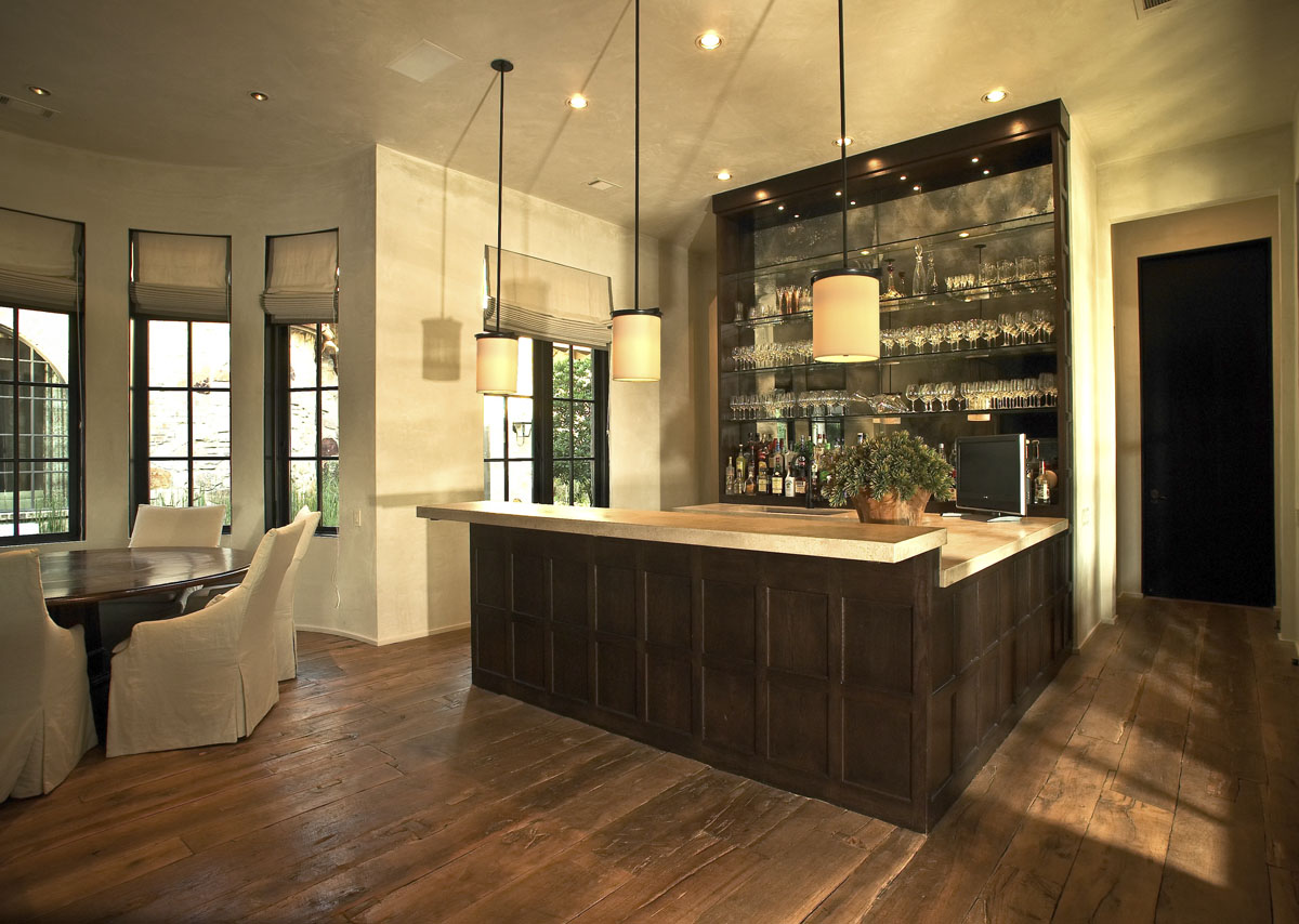 custom tuscan villa bar