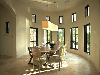 custom tuscan villa dining room