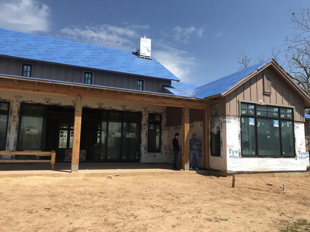 LEED platinum home construction site