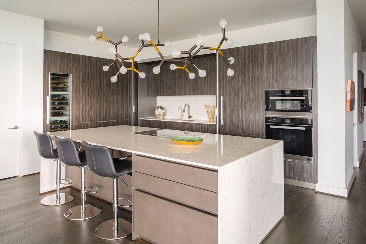 eclectic custom condo kitchen