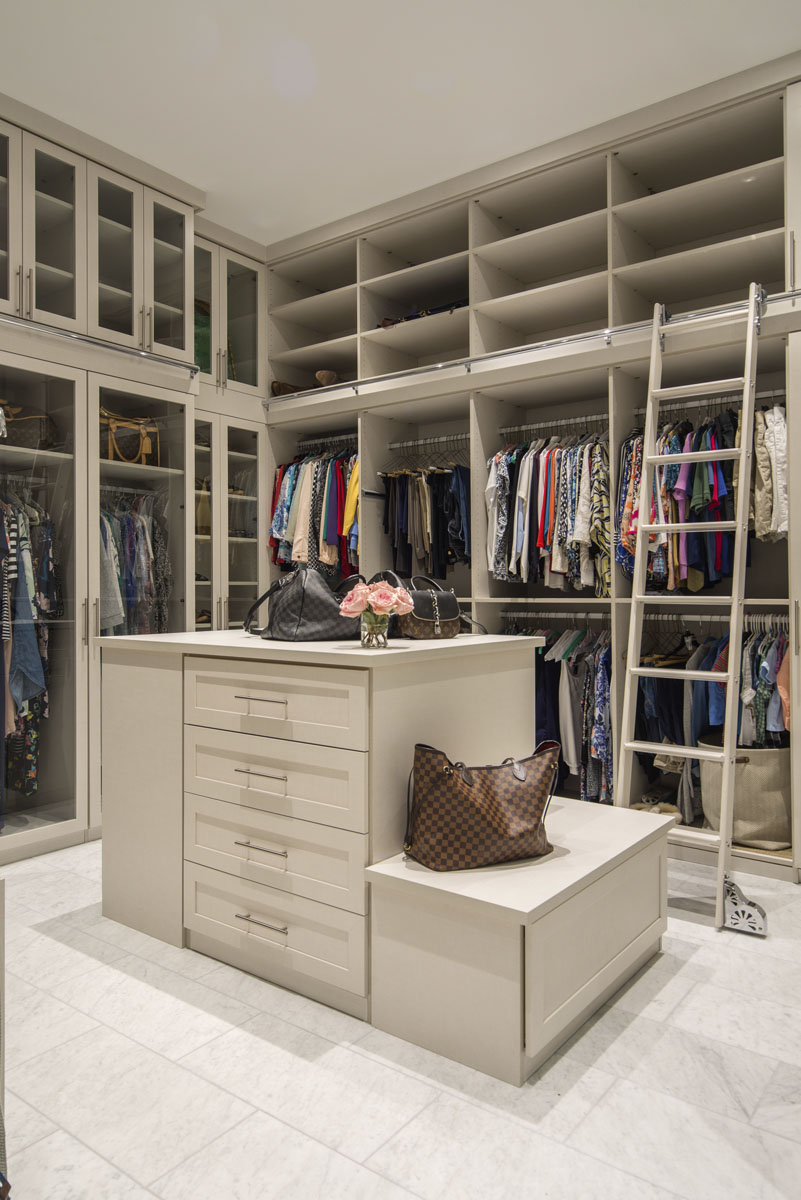 warm modern custom condo closet