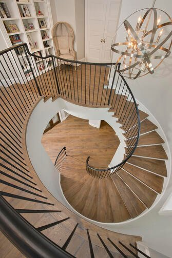 French country staircase back