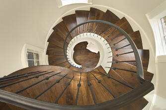 french normandy spiral staircase