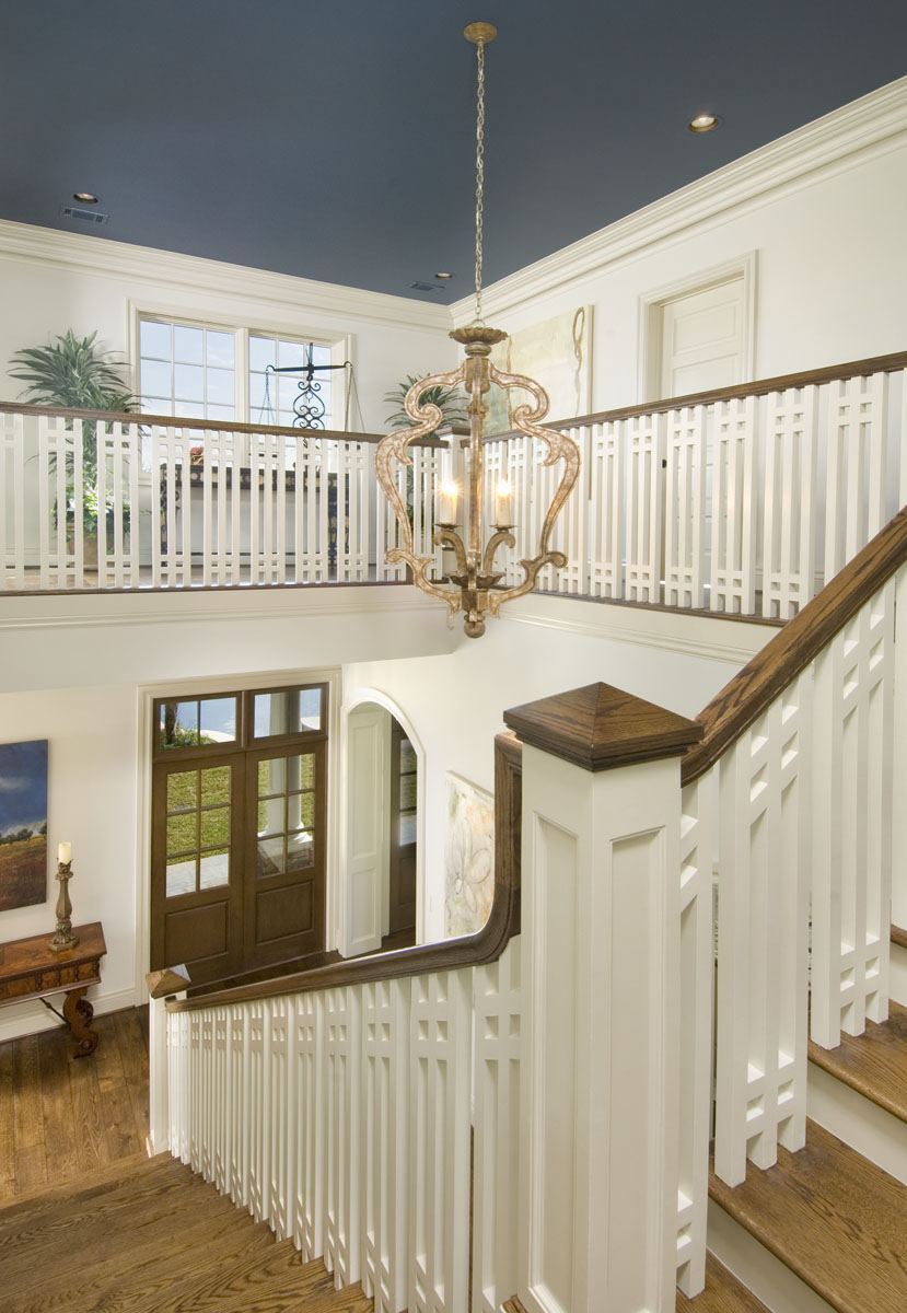 custom louisiana acadian staircase