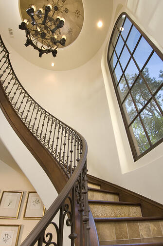 Stairwell spanish colonial
