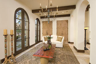 Sunroom spanish colonial room
