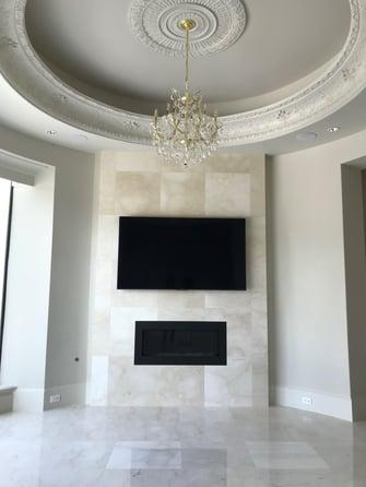 transitional mediterranean living room