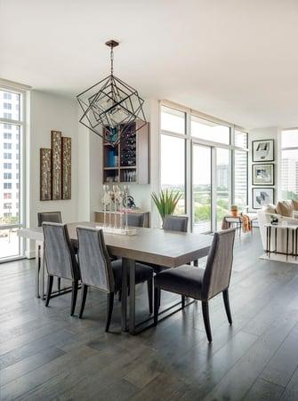 condo transitional custom dining table