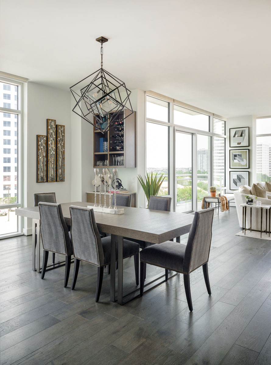 condo transitional custom dining table