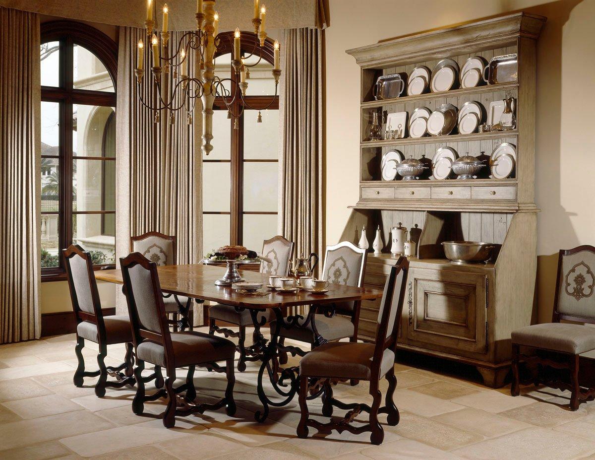 custom classic mediterranean dining room