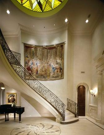 custom classic mediterranean entryway