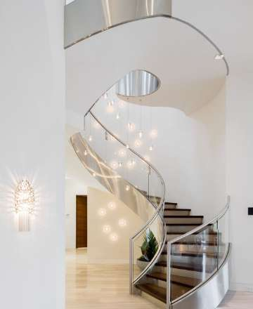 modern luxury spiral staircase